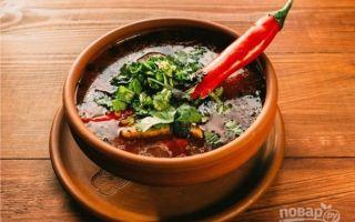 Харчо с томатной пастой