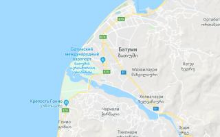 Карта города Батуми