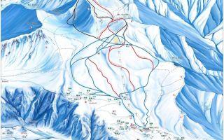 Гудаури: карта склонов