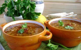 Калорийность супа харчо