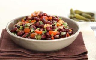 Салат с фасолью лобио