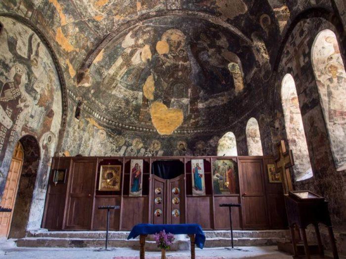 Монастырь Вардзиа изнутри