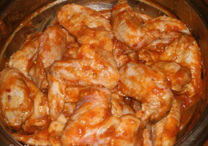 Курица в аджике в духовке