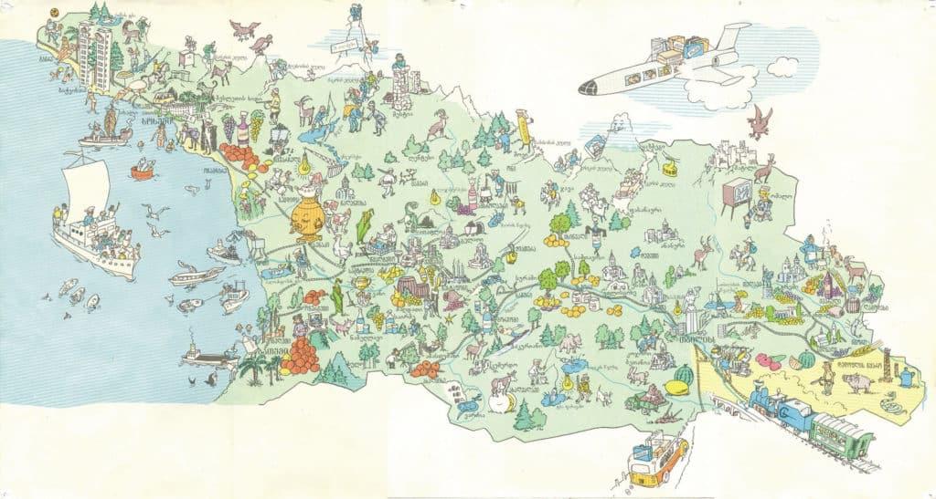 карта туриста грузии