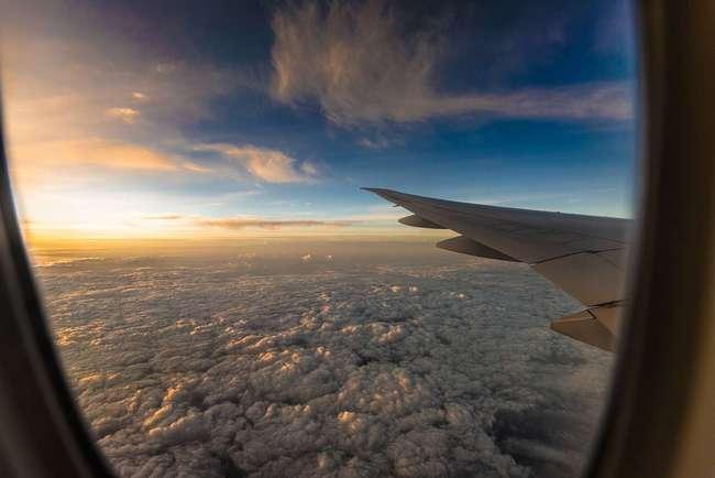 на самолете
