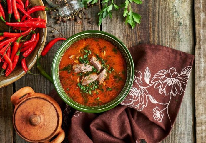 Грузинский томатный суп