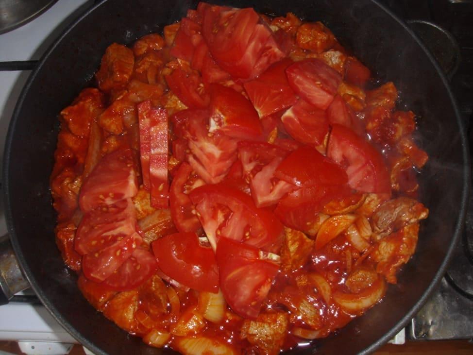 готовка Чахохбили из свинины